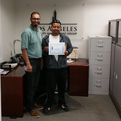 Melvin Ortiz Employee of the Month LAPMG