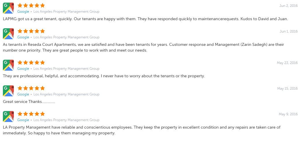 What Our Clients Are Saying About Los Angeles Property Management Group