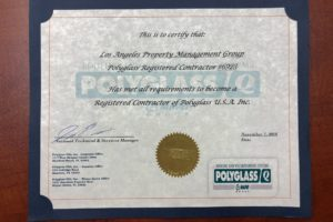 LAPMG Polyglass Registered Contractor