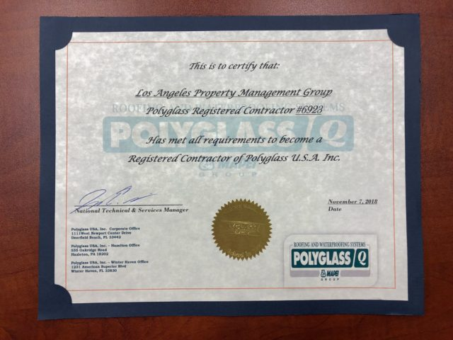 Proof We Can Roof: LAPMG's Polyglass Registered Contractor Accreditation
