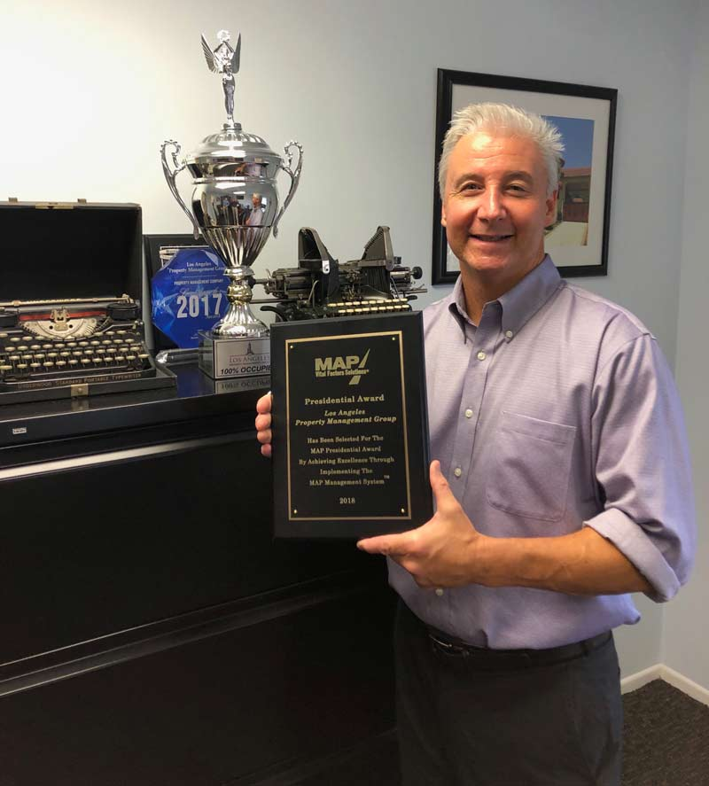 MAP President's Award Los Angeles Property Management Group